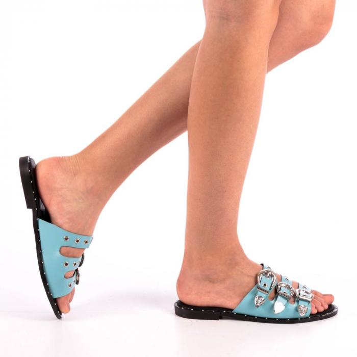 Papuci dama Edith albastri 0