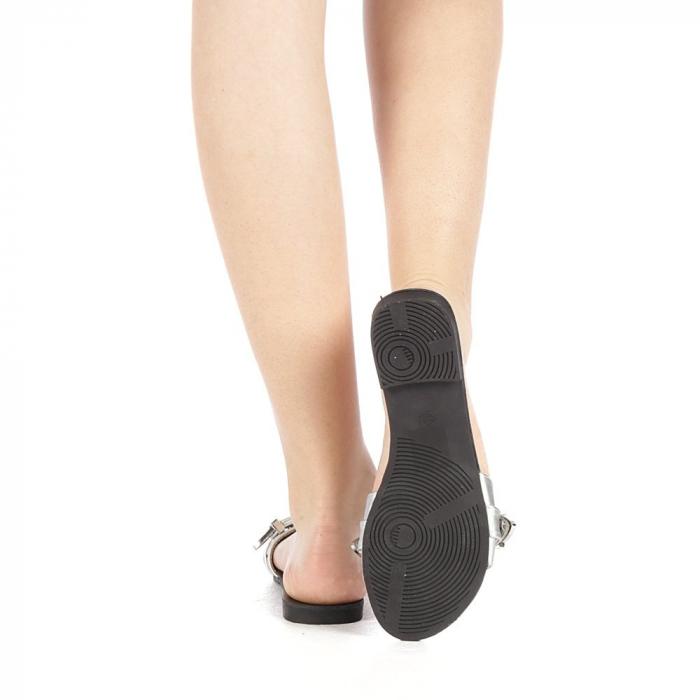 Papuci dama Guncan argintii 3
