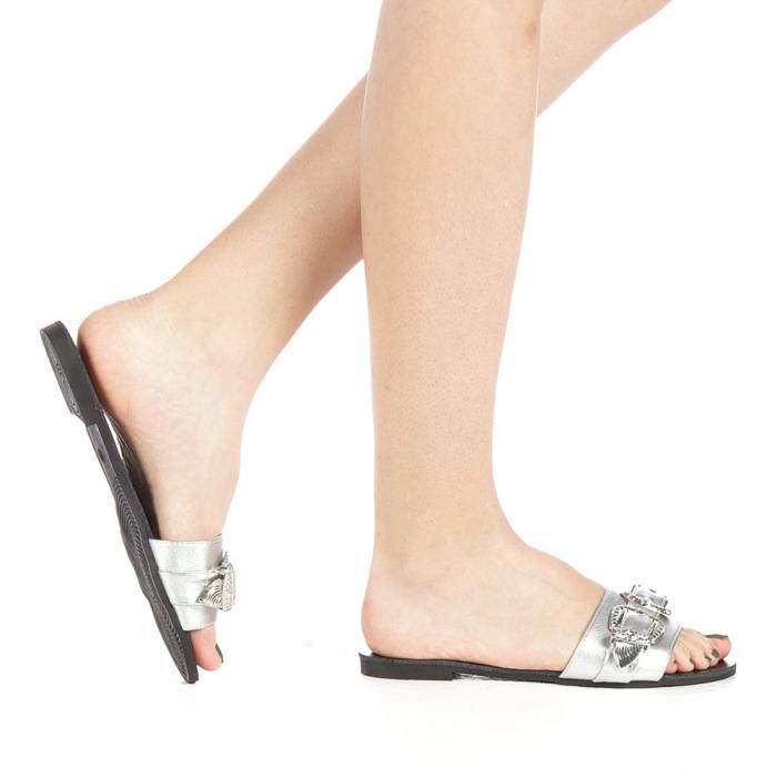 Papuci dama Guncan argintii 0