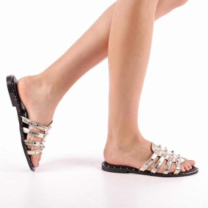 Papuci dama Iolanda aurii 0
