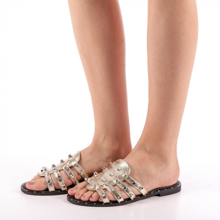 Papuci dama Iolanda aurii 1