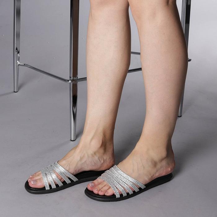 Papuci dama Kohn argintii 2