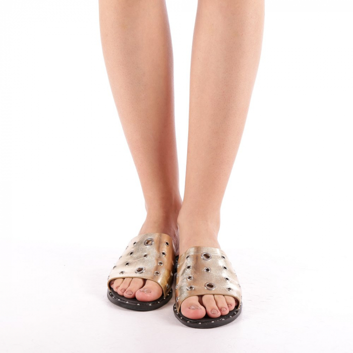 Papuci dama Laura aurii 3