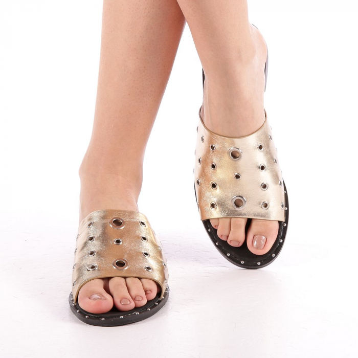 Papuci dama Laura aurii 4