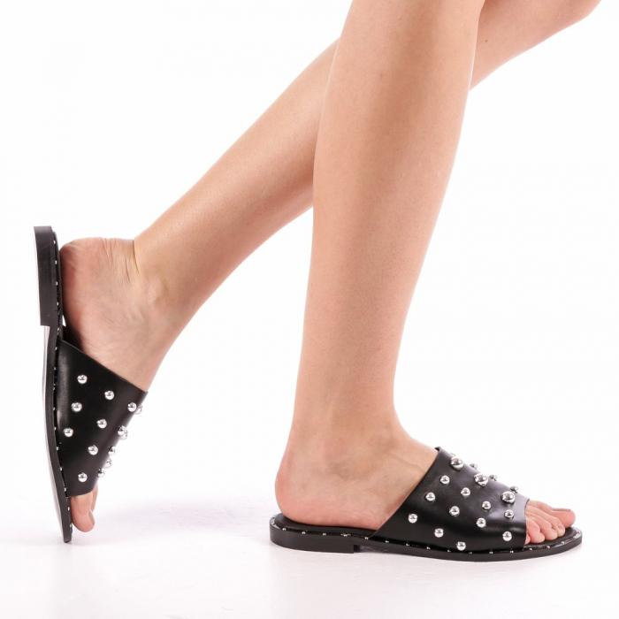 Papuci dama Lorena negri 0