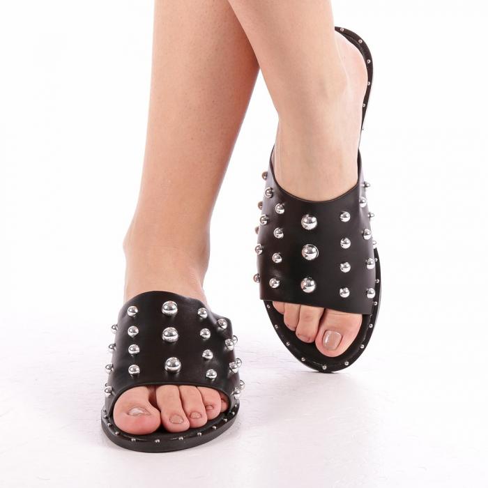 Papuci dama Lorena negri 4
