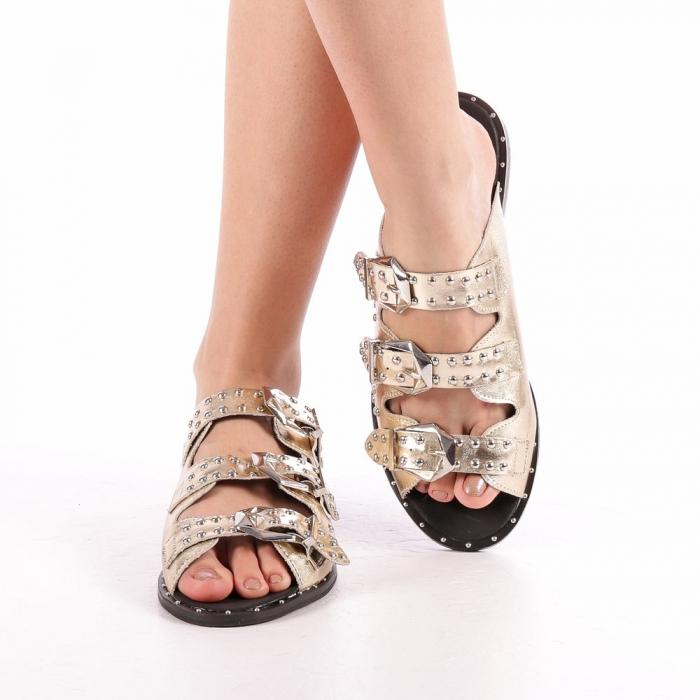 Papuci dama Luciana aurii 4