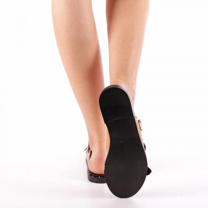 Papuci dama Luciana camel 2
