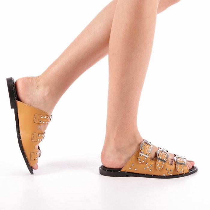 Papuci dama Luciana camel 0