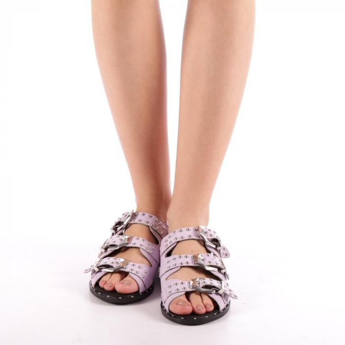 Papuci dama Luciana mov 3