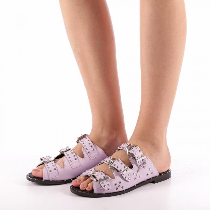 Papuci dama Luciana mov 1