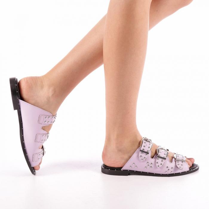 Papuci dama Luciana mov 0