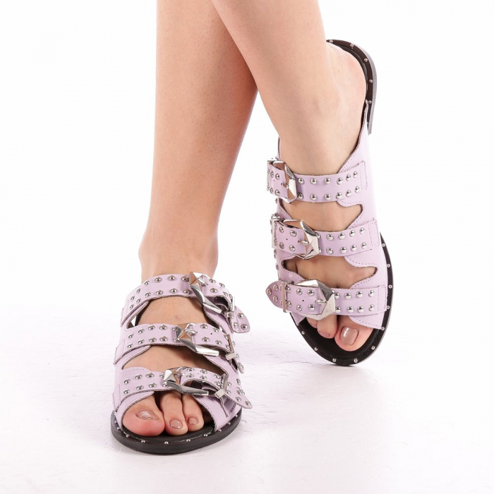 Papuci dama Luciana mov 4