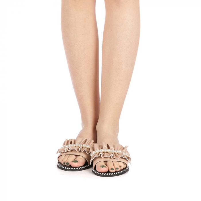 Papuci dama Milios bej 4