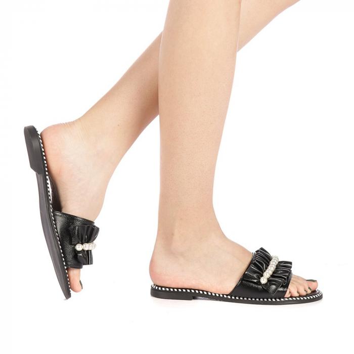 Papuci dama Milios negri 0