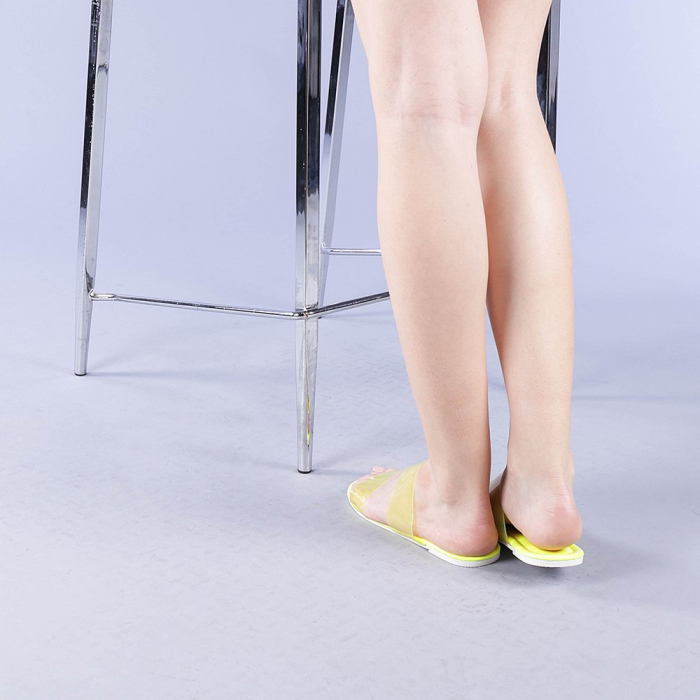 Papuci dama Morna galbeni 3