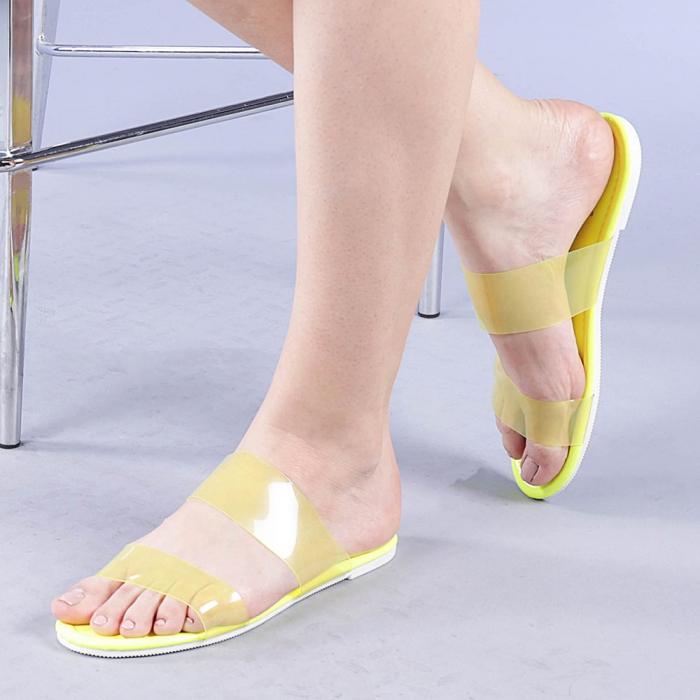 Papuci dama Morna galbeni 0