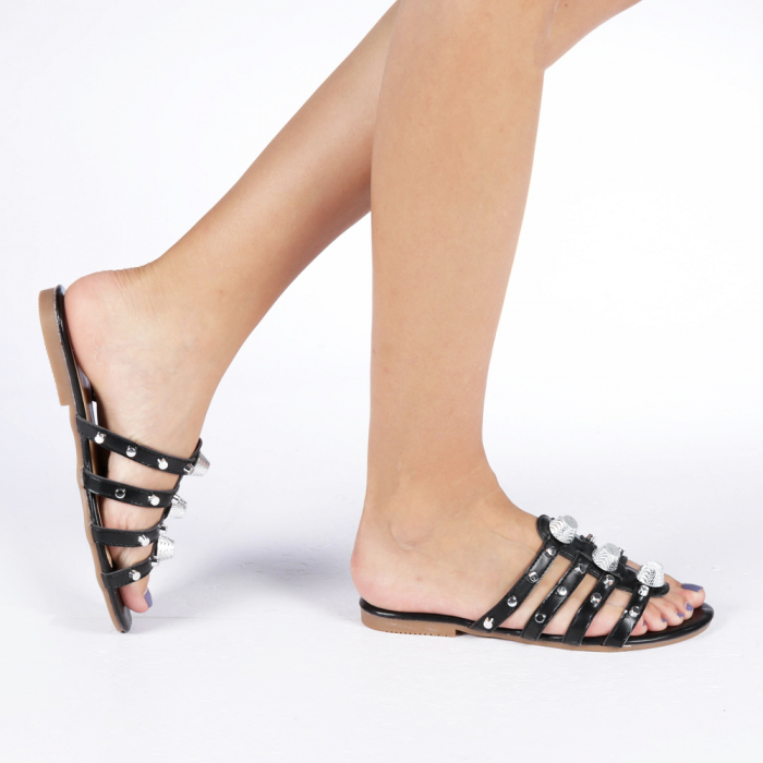 Papuci dama Penelope negri 0