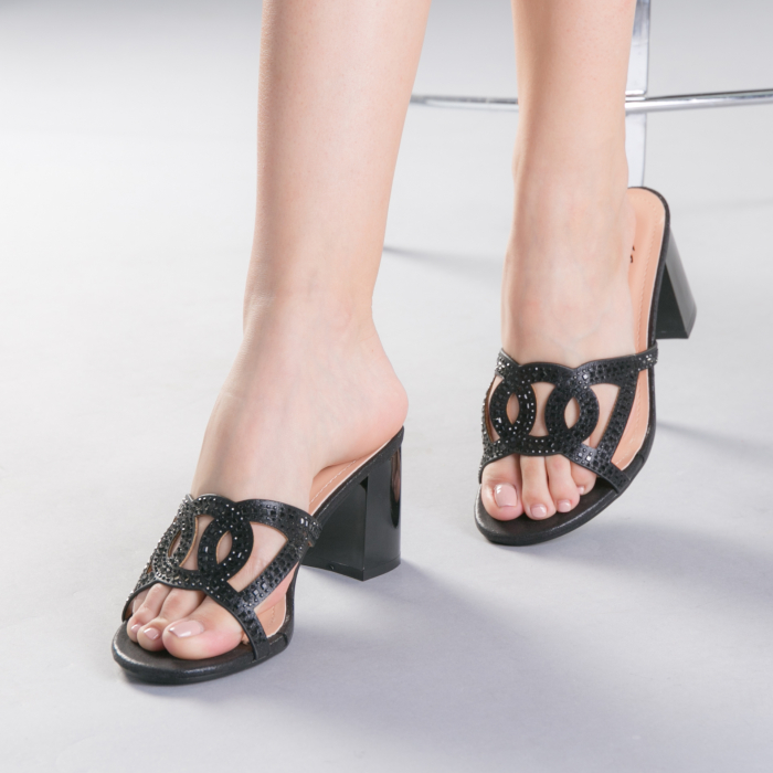 Papuci dama Sidonia negri 0