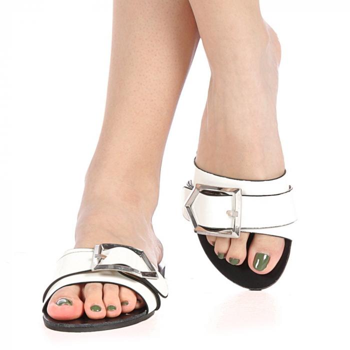 Papuci dama Zimar albi 1