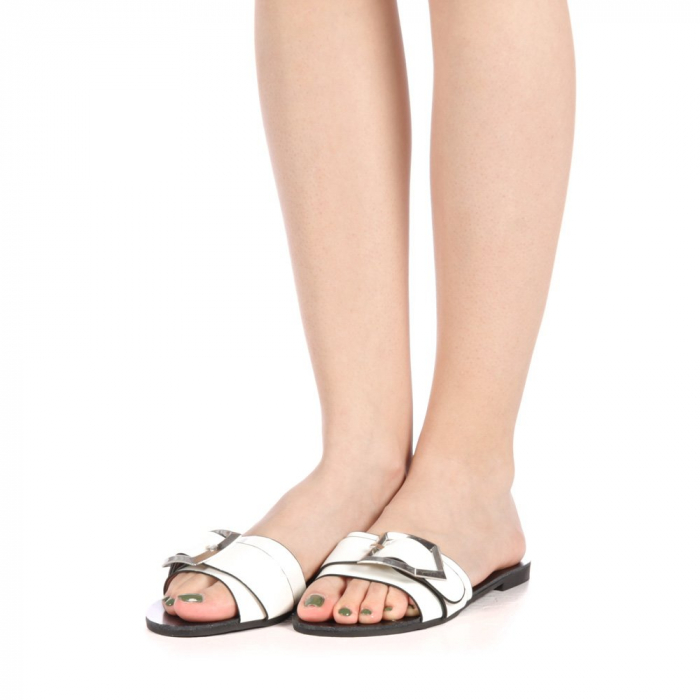 Papuci dama Zimar albi 2