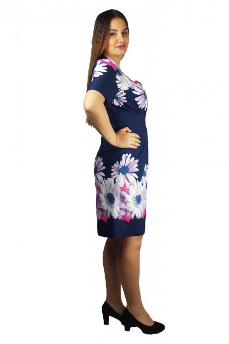 Rochie Izabela cu decolteu in V si imprimeu floral 2