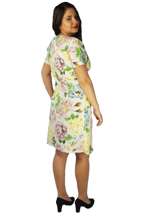 Rochie Laura cu imprimeu floral 2