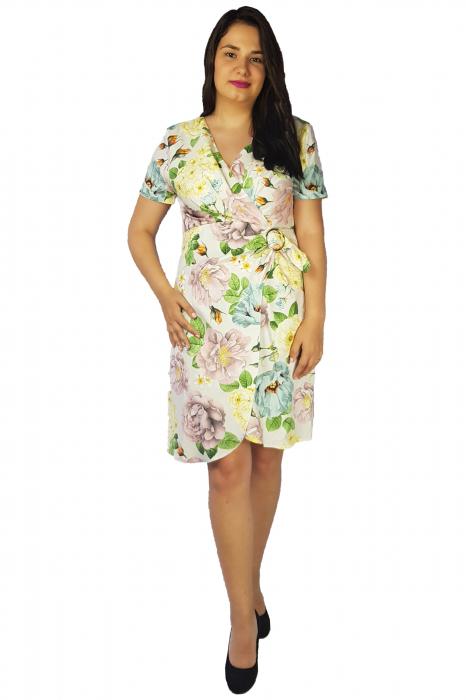 Rochie Laura cu imprimeu floral 3