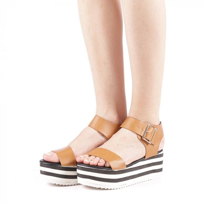 Sandale dama Billie camel 2
