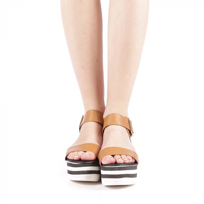 Sandale dama Billie camel 4