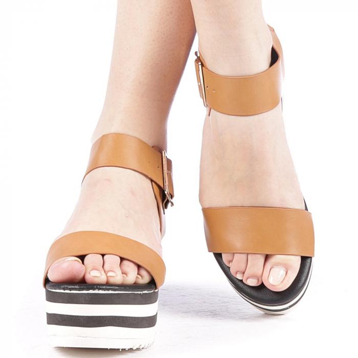 Sandale dama Billie camel 1