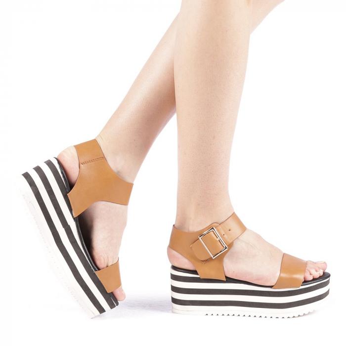Sandale dama Billie camel 0