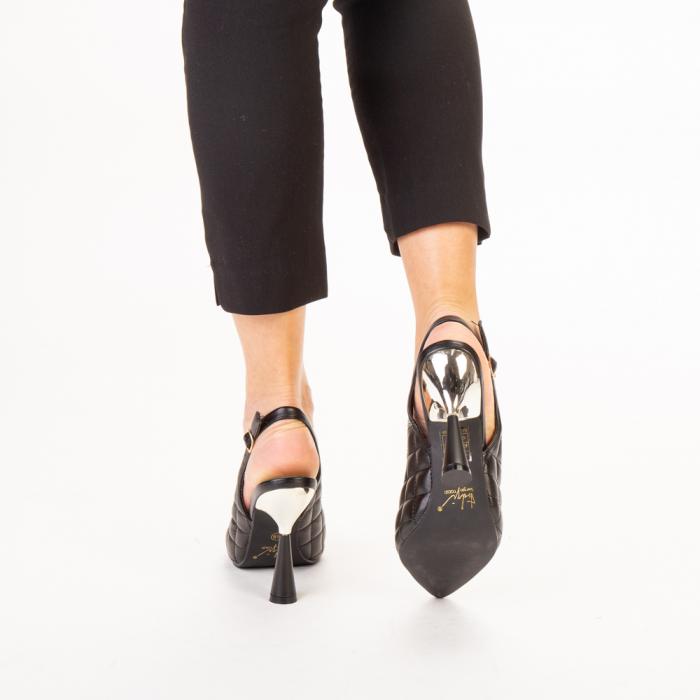 Sandale dama Sahar negre 3