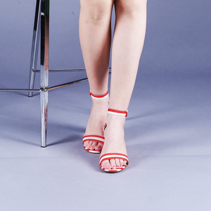 Sandale dama Stefania rosii 1