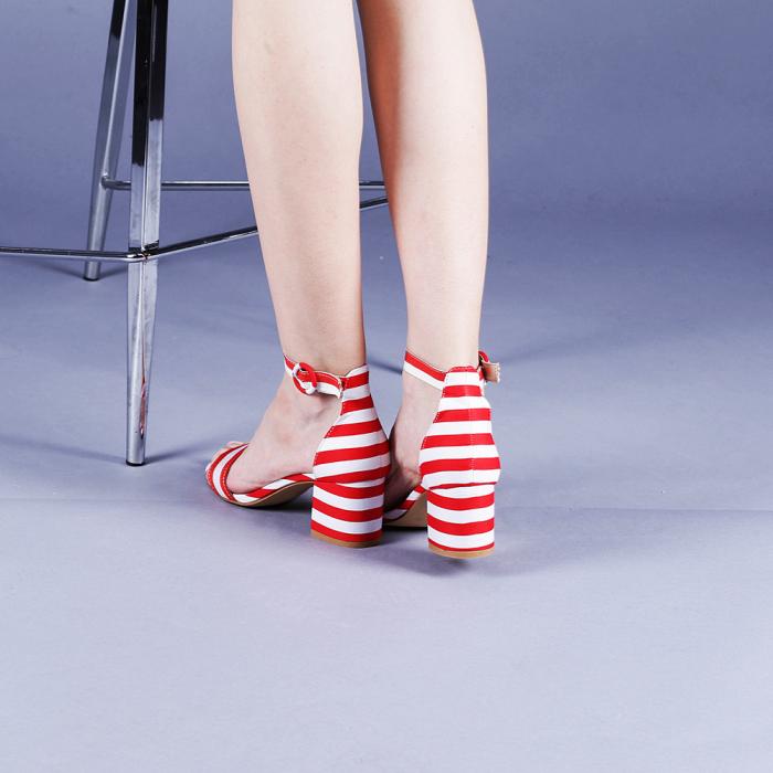 Sandale dama Stefania rosii 3
