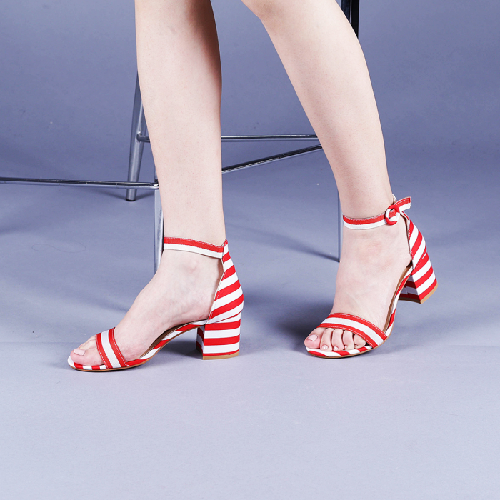 Sandale dama Stefania rosii 2