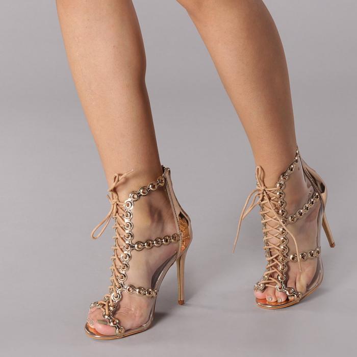 Sandale dama Valerie sampanie 3