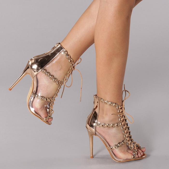 Sandale dama Valerie sampanie 0