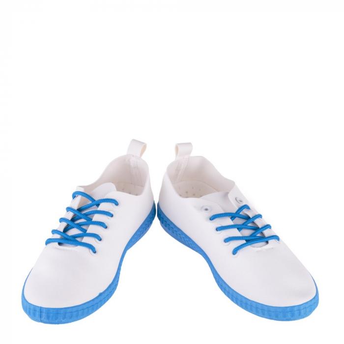 Tenisi dama Alva albi cu albastru royal 4