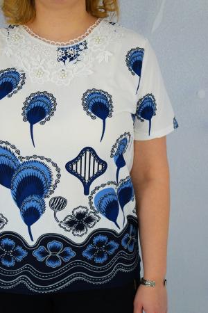 Bluza dama cu imprimeu pene fazan si broderie2