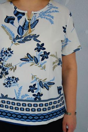 Bluza dama Caroli cu maneca scurta si imprimeu abstract [2]