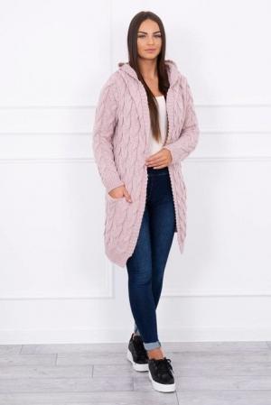 Cardigan roz pudra EL130
