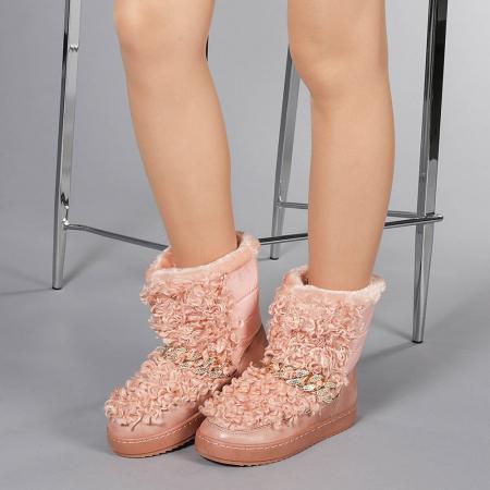 Cizme dama Coralia roz2