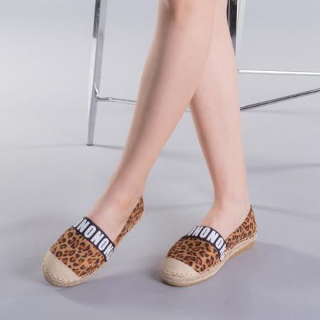 Espadrile dama Rodica leopard3