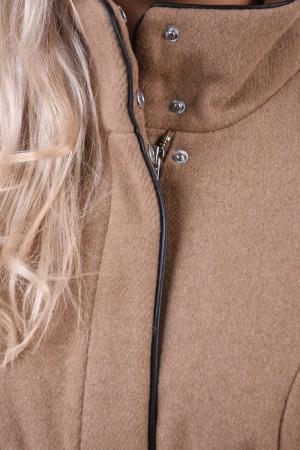 Palton dama Vero Moda maro cu guler inalt3
