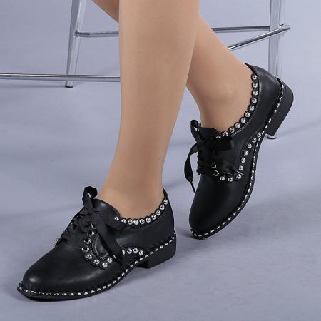 Pantofi casual dama Arabella negri0