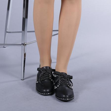Pantofi casual dama Arabella negri1