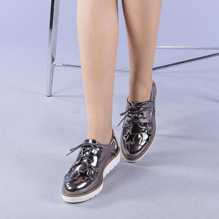 Pantofi casual dama Mirabela gri2