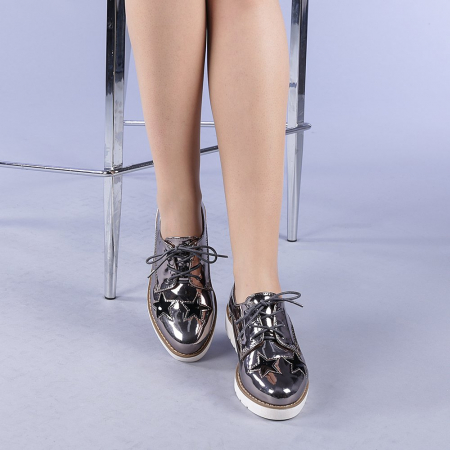 Pantofi casual dama Mirabela gri1