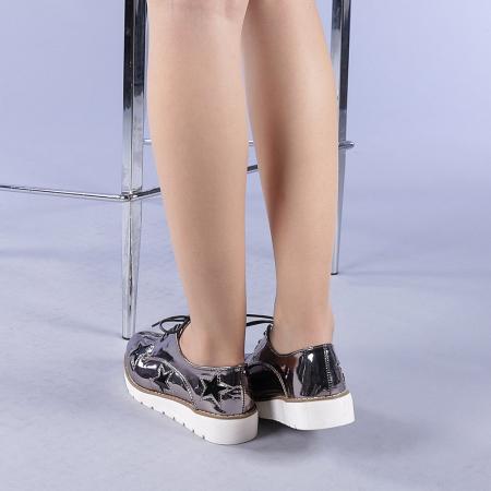 Pantofi casual dama Mirabela gri3